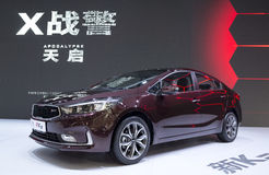Auto China 2016. Dongfeng KIA booth in 2016 Beijing International Automotive Exhibition, in May,Beijing city, China Stock Image
