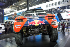 Auto China 2016. Dongfeng Peugeot 2016 models Dakar racing in 2016 Beijing International Automotive Exhibition, in May,Beijing city, China Royalty Free Stock Image
