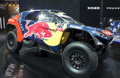 Auto China 2016. Dongfeng Peugeot 2016 models Dakar racing in 2016 Beijing International Automotive Exhibition, in May,Beijing city, China Royalty Free Stock Photo