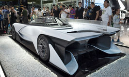 Auto China 2016. Faraday Future's FFzero1 concept electric sp[rts car in 2016 Beijing International Automotive Exhibition, in May,Beijing city, China Stock Photography