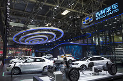 Auto China 2016. GEELY AUTO booth in 2016 Beijing International Automotive Exhibition, in May,Beijing city, China royalty free stock images