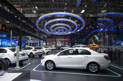 Auto China 2016. GEELY AUTO booth in 2016 Beijing International Automotive Exhibition, in May,Beijing city, China Royalty Free Stock Photography