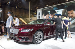 Auto China 2016. Lincoln Continental limousine in 2016 Beijing International Automotive Exhibition, in May,Beijing city, China Royalty Free Stock Images