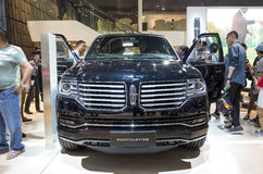 Auto China 2016. Lincoln Navigator SUV in 2016 Beijing International Automotive Exhibition, in May,Beijing city, China Royalty Free Stock Image