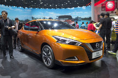 Auto China 2016. NISSAN Lannia saloon in 2016 Beijing International Automotive Exhibition, in May,Beijing city, China Royalty Free Stock Photography