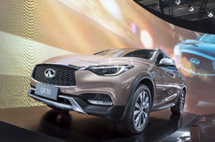 Auto China 2016. NISSAN QX30 in 2016 Beijing International Automotive Exhibition, in May,Beijing city, China Royalty Free Stock Photography