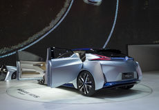 Auto China 2016. NISSAN Zero Emission concept electric car in 2016 Beijing International Automotive Exhibition, in May,Beijing city, China Stock Photos