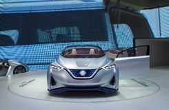 Auto China 2016. NISSAN Zero Emission concept electric car in 2016 Beijing International Automotive Exhibition, in May,Beijing city, China Royalty Free Stock Image