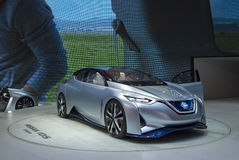 Auto China 2016. NISSAN Zero Emission concept electric car in 2016 Beijing International Automotive Exhibition, in May,Beijing city, China Royalty Free Stock Photos