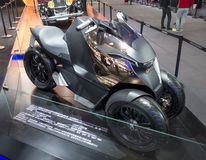 Auto China 2016. Peugeot concept Onyx Scooter motorized pedal in 2016 Beijing International Automotive Exhibition, in May,Beijing city, China Royalty Free Stock Photo