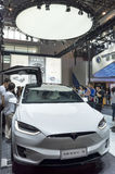 Auto China 2016. Tesla Model X booth in 2016 Beijing International Automotive Exhibition, in May,Beijing city, China Stock Image