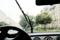 Auto chuva-escove Imagem de Stock