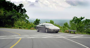 Auto Commercial. Car parked on top of Kennesaw mountain Ga stock photos