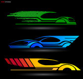 Auto Company Logo Vector Design. Concept with Sports Car Royalty Free Stock Photography