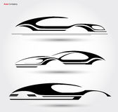 Auto Company Logo Vector Design. Concept with Sports Car Stock Photos