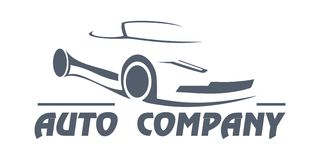 Auto company. Logo of working with cars Royalty Free Stock Images