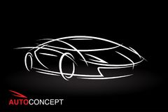 Auto concept vehicle design with model style sketch sports car Stock Image