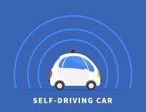 Auto-conduzindo o ícone preto do carro ilustração stock
