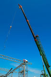 Auto crane on construction Royalty Free Stock Photos