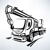 Auto crane  vector symbol Stock Photography