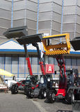 Auto cranes with bucket - RAW format Royalty Free Stock Photography