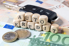 Auto Credit Royalty Free Stock Photography