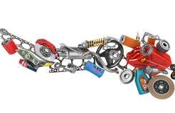 Auto części w kartonach Fotografia Royalty Free