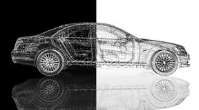 Auto 3D model Stock Foto