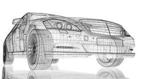 Auto 3D model Royalty-vrije Stock Afbeeldingen
