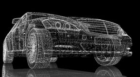 Auto 3D model Stock Foto's
