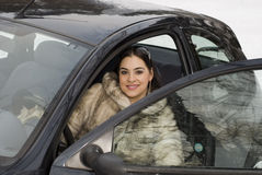 Auto dame royalty-vrije stock foto's