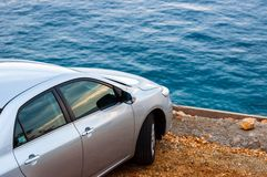 Auto, das draußen parkt stockbilder