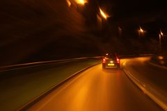 Auto, das plötzlich bremst Lizenzfreies Stockbild