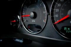 Auto dash. Dash board readings Royalty Free Stock Image