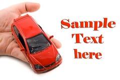Auto in de hand Stock Afbeelding