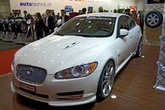 Auto de salon 2009 Jaguar van Genève stock fotografie