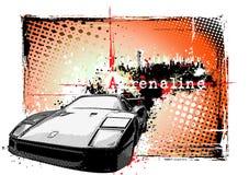 Auto in de stad Stock Afbeeldingen