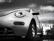 Auto in de stad royalty-vrije stock afbeeldingen