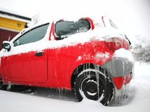 Auto in de winter Stock Fotografie