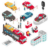 Auto Dealer Showroom Isometric Vector Illustration Royalty Free Stock Photo