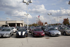 Auto_dealership_lot Royalty Free Stock Photos