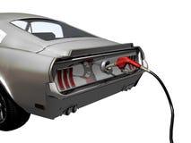 Auto an der Gaspumpe vektor abbildung