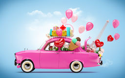 Auto der Liebe Stockfotografie