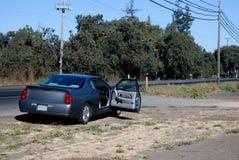 Auto in der Mühe Lizenzfreie Stockbilder