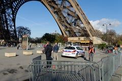 Auto der Polizei in Paris Lizenzfreies Stockbild