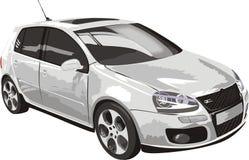 Auto der weißen Farbe lizenzfreie abbildung