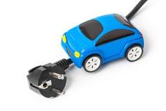 Auto des elektrischen Steckers und des Spielzeugs lizenzfreie stockfotos