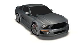 Auto des Mustangs 3d Lizenzfreie Stockfotos