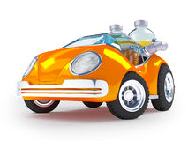 Auto des orange Sodas Stockfotografie