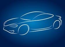 Auto design. Car design for business, silhouette Stock Image
